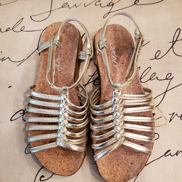 Shoes   Dkny Gold Sandals   Poshmark